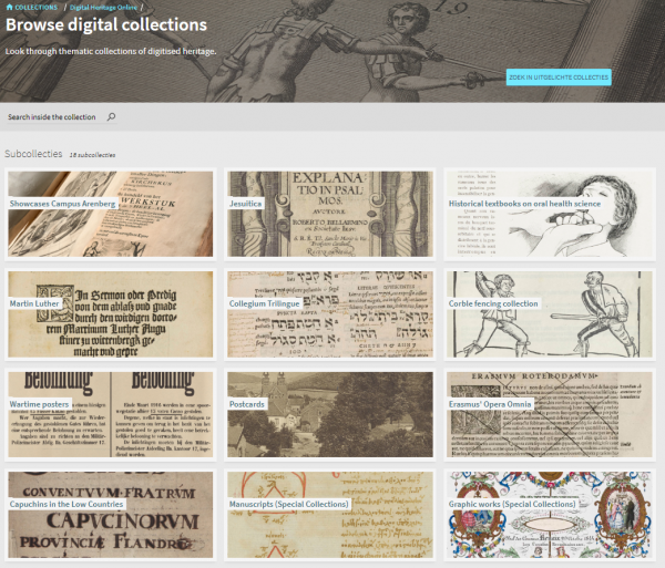 Screenshot Digital Heritage Online