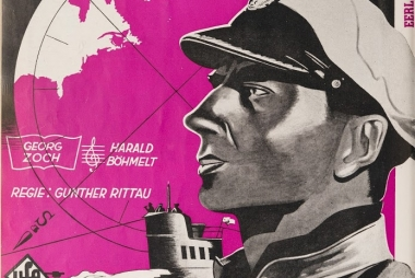 Filmposter U-Boote westwärts. Bron: Roel Vande Winkel, 'Cinema in Occupied Belgium (1940-1944)', https://www.cinema-in-bezet-belgie.be