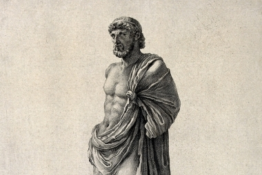 Aesculapius, de Griekse god van geneeskunde en genezing. Wellcomeimages.org via Wikimedia Commons, CC BY 4.0.